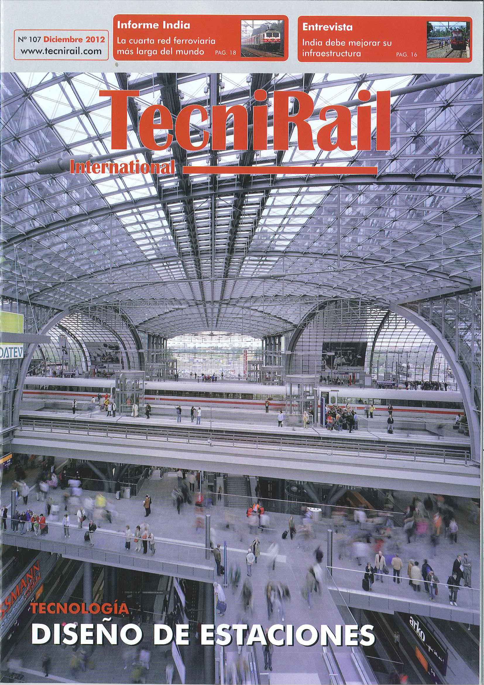 Tecnirail magazine publishes an article featuring two of our buildings